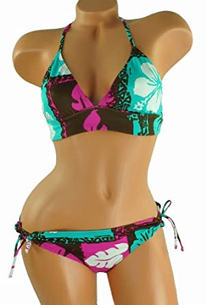 Raisins Juniors Reversable Lowrider 2 Piece Bikini Browngreen S