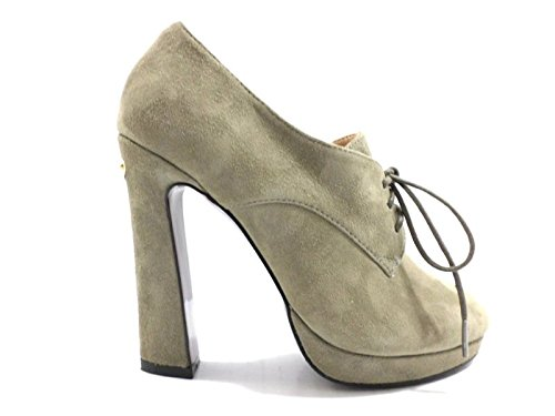 scarpe donna LIU JO 35 tronchetti beige camoscio KY94