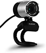 Webcam,AUSDOM alta definición 1080p HD cámara de red USB Webcam ordenador USB Web Cam con micrófono para Skype facetime Youtube