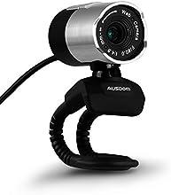Webcam,AUSDOM alta definición 1080p HD cámara de red USB Webcam ordenador USB Web Cam con micrófono para Skype facetime Youtube