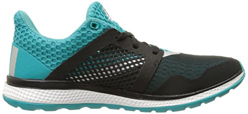 Adidas Performance Women's Energy Bounce 2.0 Running Shoe,Black/Silver/Shock Green,9.5 M US
