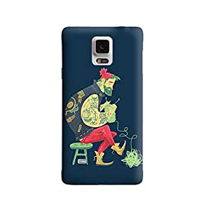 The Fappy Store kit man plastic back cover For Samsung note 4