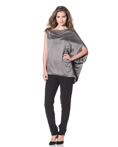 KaufmanFranco Women's Asymmetric Batwing Top  [Gull]