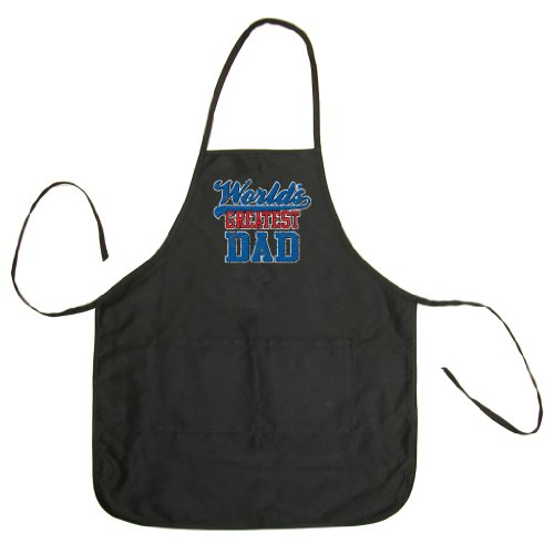 So Relative! - World's Greatest Dad (Vintage Distressed) - Men's & Women's BBQ Cooking & Grilling Apron (Black, One Size)