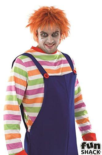 Costume da uomo cattivo per Halloween pagliaccio circo travestimento Outfit in: Extra Large UK 46-48UK 46-48
