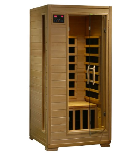 Radiant Saunas Bsa2402 1-Person Hemlock Infrared Sauna With 5-Carbon Heaters front-196561
