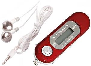 SODIAL(R) Baladeur Mp3 4GB USB 2.0 Rouge ?couteurs blancs Pas de piles