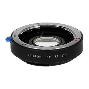 Fotodiox Pro Lens Mount Adapter, 35mm Fuji Fujica X-Mount Lenses to Canon EOS EF Mount DSLR Camera Body for Canon EOS 1D, 1DS, Mark II, III, 5D, Mark II, 7D, 10D, 20D, 30D, 40D, 50D, 60D, Digital Rebel XT, XTI, XS, T1I, T2I, 300D, 350D, 400D, 450D, 500D,
