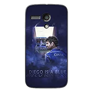 EYP Chelsea Diego Costa Back Cover Case for Moto G (1st Gen)