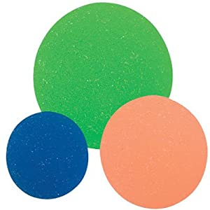 "12 - Colorful Rubber"" Bouncing ICY Neon Balls - Lots of Fun! Makes Great Replacement Balls for the Cranium Cariboo Game!"""