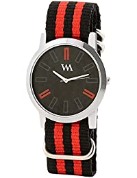 WATCH ME Black Nylon Black Dial Watch For Men Black Nylon Black Dial Watch For Men Watch MeAL-193