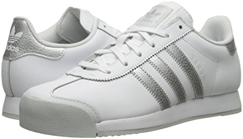 Adidas Originals Women's Samoa W Fashion Sneaker, White/Metallic Silver/Light Grey, 9.5 M US