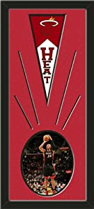 Miami Heat Wool Felt Mini Pennant & Ray Allen Photo - Framed With Team Color... by Art and More, Davenport, IA