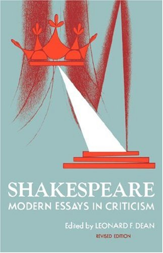 Image for Shakespeare: Modern Essays in Criticism (Galaxy Books)