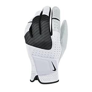 2014 Nike Mens Tech Xtreme Leather Golf glove Left Hand White/Black Large