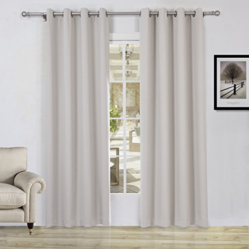 Save 50 Lullabi Solid Thermal Blackout Window Curtain Drapery Gromment 84 Inch Length By