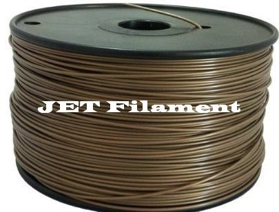 Jet- PLA (1.75mm, Brown colore, 1.0kg =2.204 lbs) Filament On Spool for 3D Printer MakerBot, RepRap, MakeGear, Ultimaker & Up!