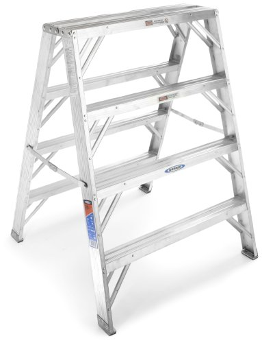 Werner TW374-30 300-Pound Duty Rating Aluminum Twin Stepladder and Portable Work Stand, 4-Foot