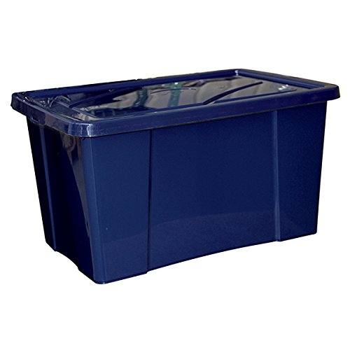 Mondex PLS418-26 Boîte de Rangement avec Couvercle Plastique Bleu 58,5 x 38,5 x 31 cm 48 L