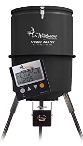 Buy Wildgame Innovations 40 Gallon Digital Poly Barrel Feeder by Wild Game Innovations