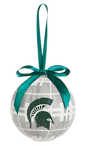 100Mm Led Ball Ornament, Michigan State
