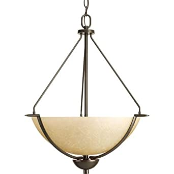 Progress Lighting P3912 20 Bravo Collection 3 Light Foyer Pendant Antique Br