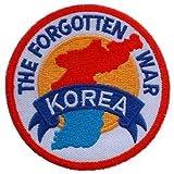 US Military Korea & WWII Iron On Patch - Korea The Forgotten War Applique