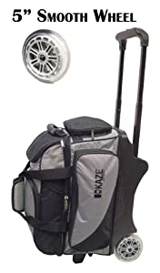 KAZE 2-Ball Roller Bag (Black-Gray)