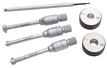 "Brown & Sharpe 599-290-10 Intrimik Inside Micrometer Set, 0.430-0.790"" Range, 0.001mm/0.00005"" Graduation, +/-0.00016"" Accuracy (6 Piece Set)"
