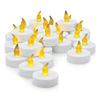 Flameless LED Tea Light Candles, Realistic, Battery Powered, Unscented LED Candles, Fake Candles, Tealights (24 Pack) - Divine LEDs from Divine LEDs
