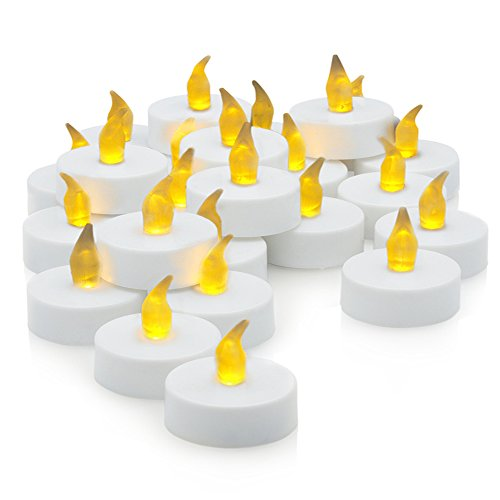 Stunning Flameless LED Tea Light Candles - Realistic Battery-Powered Flameless Candles - Beautiful and Elegant Unscented LED Candles - The Perfect Decoration - (24 Pack) - Fake Candles / Tealights - Divine LEDs