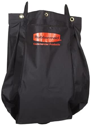 "Rubbermaid 9T81 30 gallon Capacity, 33"" Length x 10-1/2"" Width x 17-1/2"" Height, Black Color, Compact Fabric Replacement Bag, 2 per Carton"