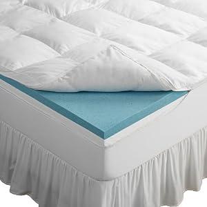 "Amazon.com: Sleep Innovations 4"" Dual Layer Gel-Memory ..."