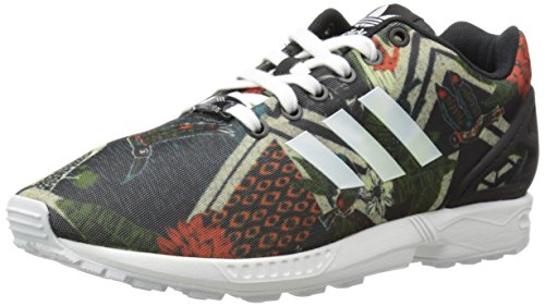 Adidas Originals Women's ZX Flux W Lace-Up Fashion Sneaker, Black/White/Black, 8.5 M US