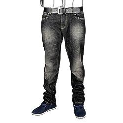Sting Slim Fit Black Denim Casual Jeans for Men