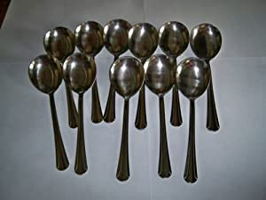 Soup Spoons 12 Piece Stainless Steel
