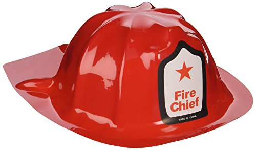 Rhode Island Novelty Plastic Firefighter Chief Hat (Set of 12) (Fire Engine Party Supplies compare prices)