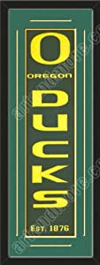 Heritage Banner Of Oregon Ducks With Team Color Double Matting-Framed Awesome &... by Art and More, Davenport, IA