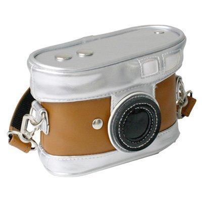 Cámara digital marrón suave de caso (cámara)