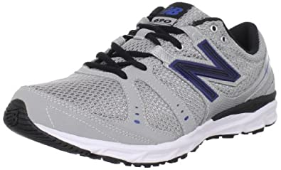 New Balance Men's M690 Running Shoe,Silver/Blue,15 2E US