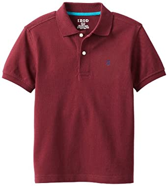 IZOD Big Boys' Solid Polo, Port, Medium