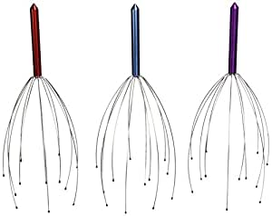 Hand Held Scalp Head Massager - Set of Three ( Colors May Vary )