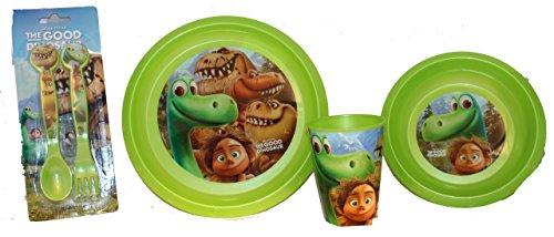 Disney Arlo & Spot-La buona Dinosaurier-Set per la colazione con tazza, ciotola, piatto e posate