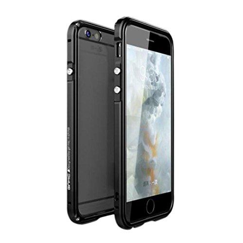 Coque pour iPhone 6 PLUS 5.5inch, iPhone 6 4.7inch, Voberry® Housse / Etui / Case Cover Armature en Aluminium Métallique + Dos en PC Style Luxueux Donner à vos Téléphone une Meilleure Protection (iPhone 6 Plus 4.7, A)