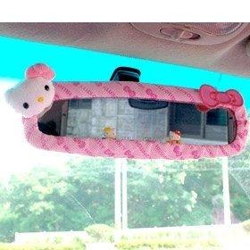 Sanrio Hello Kitty Car Rear View Mirror Cover pink