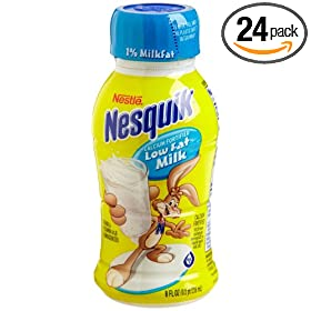 Nestle Nesquik Ready To Drink White Shelf Stable Milk, Low Fat (1%