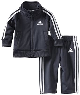 Adidas Little Boys' Toddler Core Tricot Set, Gray, 2T