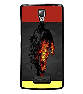 printtech Battlefield Game View Back Case Cover for Lenovo A2010