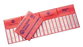 """Precision Brand 77750  Stainless Steel Thickness Feeler Gage, 1/2"""" Width, 5"""" Length, 20 Blades"""