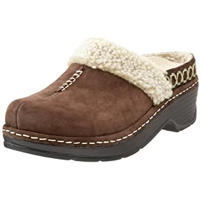 Klogs USA Women's Zurich Open Back Fleece Clog,Coffee Suede,9 M US